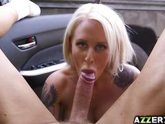 Big tits Alicia Amira enjoys fucking in the car
