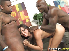 Alysa Takes Two BBC In Her Ass
