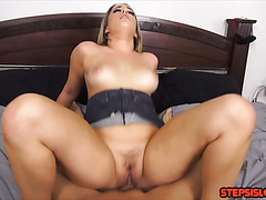 Stepsister Mila Marx fucks bro for a small loan of a thousand dollars