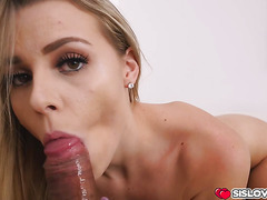Aubrey Sinclair suprise birthday fuck for stepbro