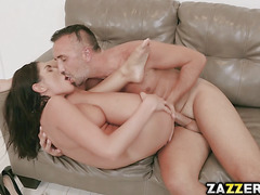 August is not after the role, all she wants is Keiran's cock to suck and fuck