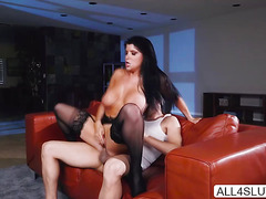Big tits Romi Rain gets pussy licked by a horny dude Xander Corvus