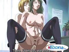 Hentai slut gets cunt filled with cum after banging