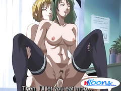 Hentai slut gets cunt filled with cum after banging