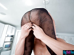 Short haired Mickey Blue loves huge cock fucking her pussy
