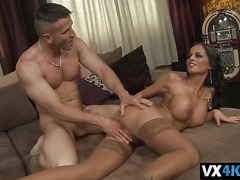Horny Black Angelika can't get enough of her man's hard cock