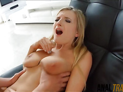 Euro stunner Jemma Valentine ass to mouth with beefy cock