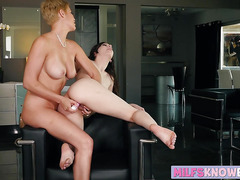 Busty  Ember Stone teaches Ryan Keely how to lick wet cunt
