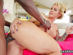 Pornstar doll gets her ass hole screwed with long boner