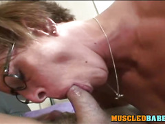 Blowjob From a Mature With Muscles