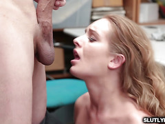 Daisy Stone got a mouthful of the LP Officers thick cock
