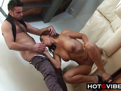 Latina MILF Sucks Off Stud and Takes His Cock