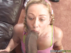 Teen Aubrey Dey Fuck A Black Guy While Dad Watches