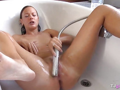 Laura's Hot Shower Masturbating Video