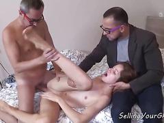 Sweet Russian Girlfriend Gets Anal Sex