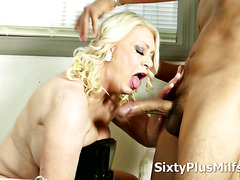 Old Slut Likes to Ride Younger Cock