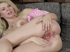 Czech Cutie Barbora Gaping Her Pussy
