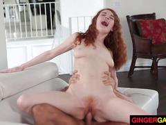 Ginger Stepdaughter Abbey Rain gets Slammed