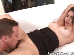 Cum tasting MILF Dana Vespoli gets fucked from behind good