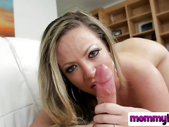 Angry MILF cheats on her husband and gets her hand on this dick