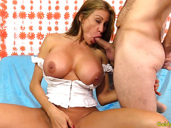 Busty Mature Sheila Marie Masturbates and Fucks Like a Slut