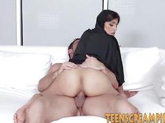 Busty hijab teen fucking