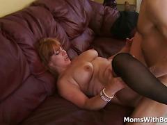 Big Tit Redhead MILF Calliste Pussy Fuck In Stockings