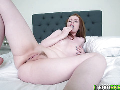 Ella Hughes pussy pilgrimming on top of Chad White