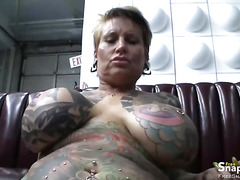 Tattooed Mature Slut Fucking Hard