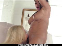 PornstarPalladium Mature Lesbo Licks Big Tits