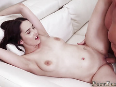 Family strokes cute boss' playmate's step daughter and