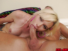Astrid Star anal fuck like a cherry on top of Mark Wood