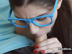 Sexy teen tutor is ready for anal