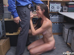 Sofie Marie sucked nice and good officers cock