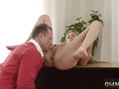 Teen masturbation dirty talk daddy and redhead old