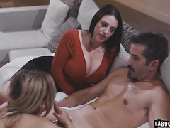 Couples Jane and Donni's virtual assistant Joy who monitor their sexual intercourse