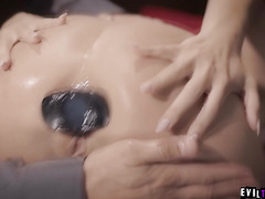 Adriana Chechik submits to a study in GAPE!