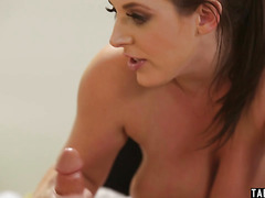 Huge boobs maid Angela White cleans more then needed