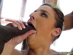 BBC Slut Amirah Adara Offers Up All Three Of Her Sweet Holes!