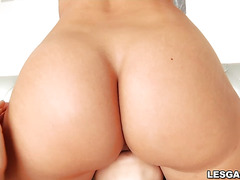 Mandy Muse and Candice Dare hot lesbian anal action