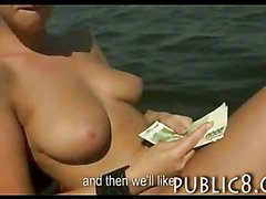Busty Czech babe fucked on the boat with stranger and paid