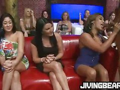 Girl gone wild with strippers dick
