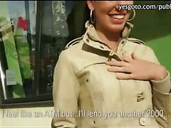 Stunning amateur Czech girl pounded in public for some money