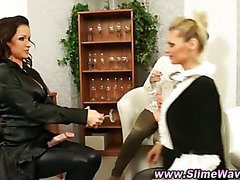 Bukkake fetish lesbians get nasty