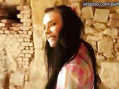 Beautiful amateur Czech girl paid for hardcore anal fucking