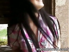 Shy gorgeous sweetie turned into instant slut by having a quickie sex in public