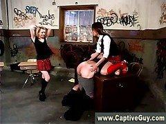 Femdom schoolgirls dominate