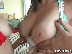 Curvy appealing tramps gets pussies spreaded