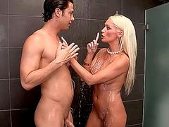 Sexy blonde stepmom Diana Doll is fucking Elaina Rayes boyfriend