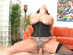 Big Titted Slut Rides A Big Hard Cock